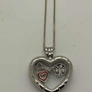 Heart Locket with charms